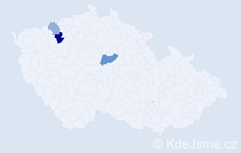 Příjmení: 'Legutková', počet výskytů 5 v celé ČR