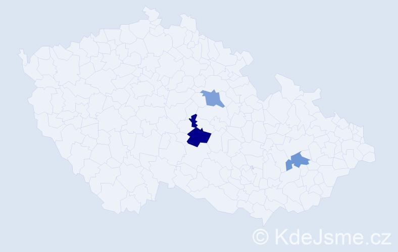 Příjmení: 'Engelmajerová', počet výskytů 4 v celé ČR