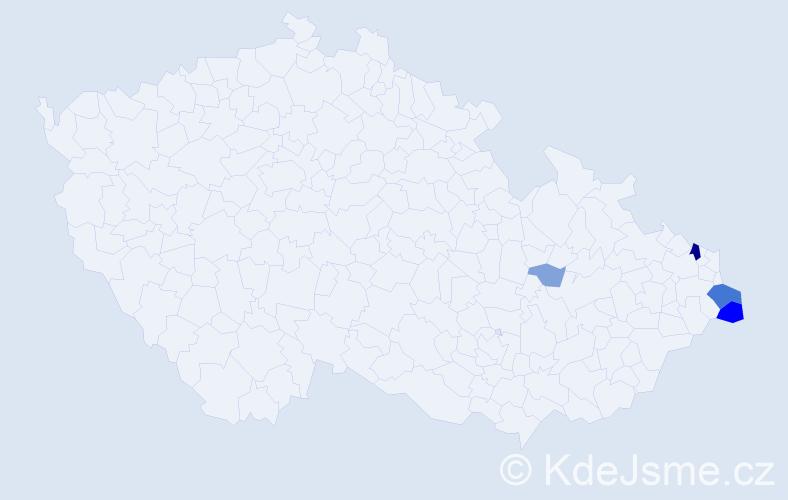 Příjmení: 'Czepiecová', počet výskytů 14 v celé ČR