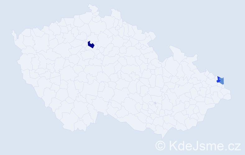 Příjmení: 'Gadowski', počet výskytů 6 v celé ČR