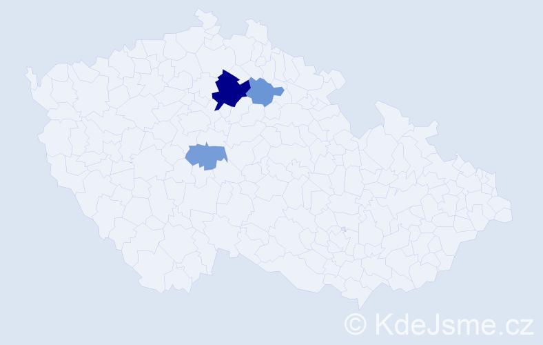 Příjmení: 'Cinkeis', počet výskytů 7 v celé ČR