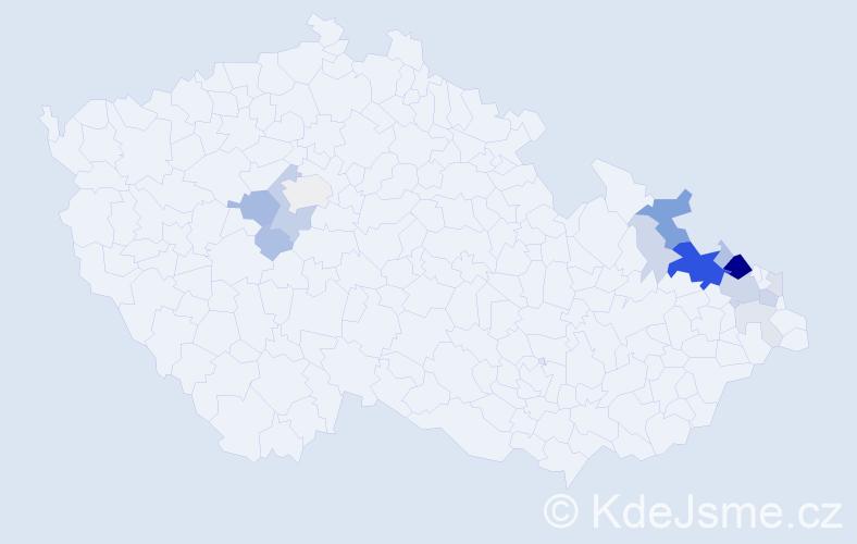 Příjmení: 'Heisig', počet výskytů 56 v celé ČR