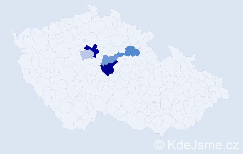 Příjmení: 'Círman', počet výskytů 11 v celé ČR