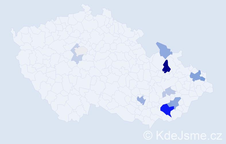 Příjmení: 'Bráblíková', počet výskytů 31 v celé ČR