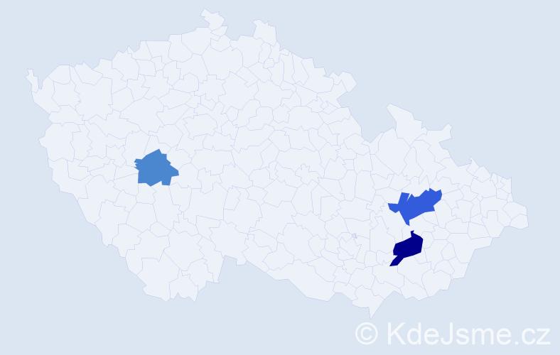 Příjmení: 'Čupalková', počet výskytů 5 v celé ČR