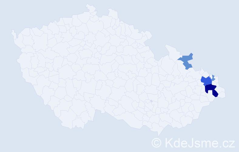 Příjmení: 'Edelsbergerová', počet výskytů 14 v celé ČR