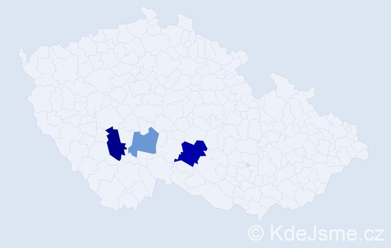 Příjmení: 'Džambiková', počet výskytů 6 v celé ČR