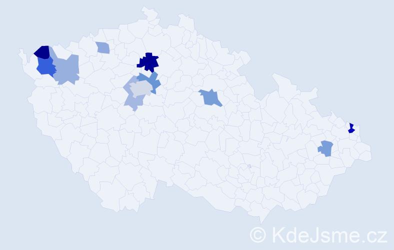 Příjmení: 'Goldbergerová', počet výskytů 21 v celé ČR