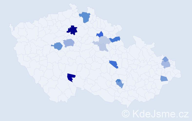 Příjmení: 'Goldstein', počet výskytů 41 v celé ČR
