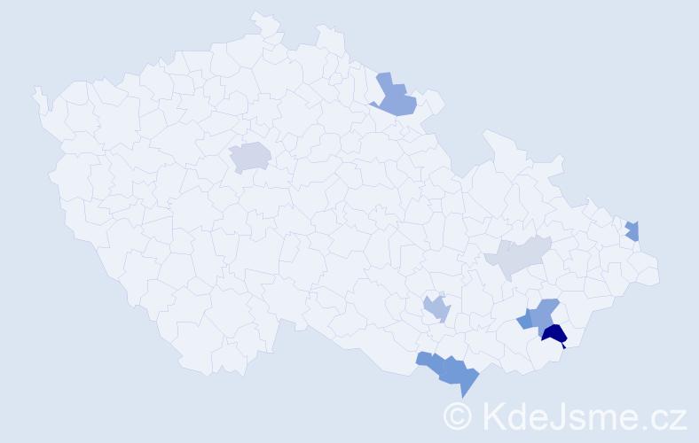 Příjmení: 'Huleja', počet výskytů 30 v celé ČR