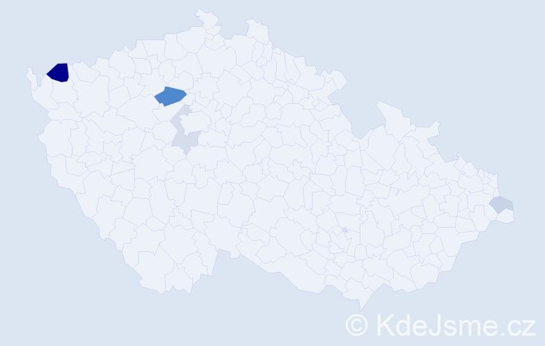 Příjmení: 'Csicsola', počet výskytů 9 v celé ČR