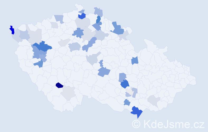 Příjmení: 'Görnerová', počet výskytů 105 v celé ČR