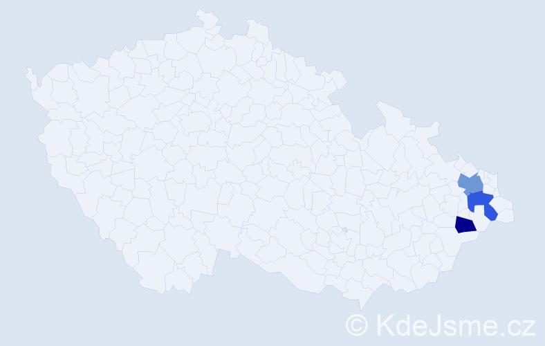 Příjmení: 'Balavajder', počet výskytů 9 v celé ČR