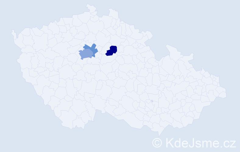 Příjmení: 'Flegerová', počet výskytů 7 v celé ČR