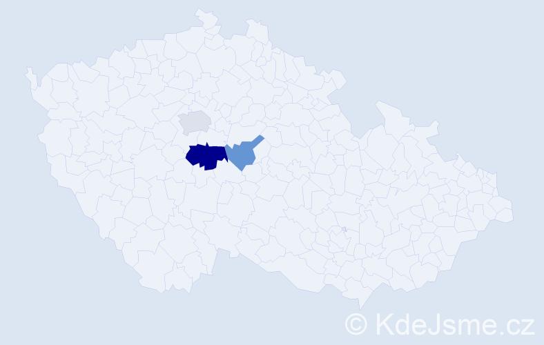 Příjmení: 'Jasz', počet výskytů 11 v celé ČR