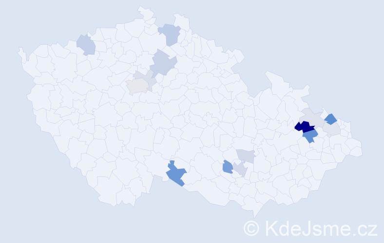 Příjmení: 'Gellner', počet výskytů 35 v celé ČR