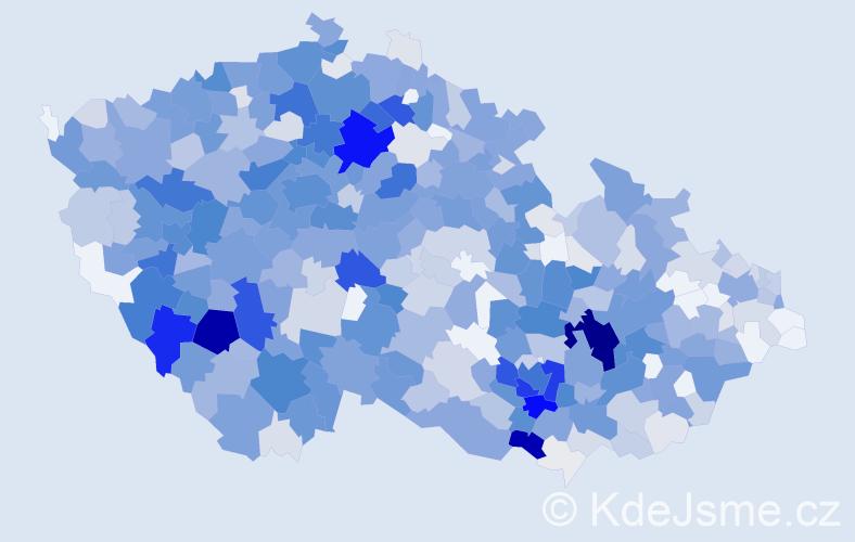 Příjmení: 'Kroupová', počet výskytů 2808 v celé ČR