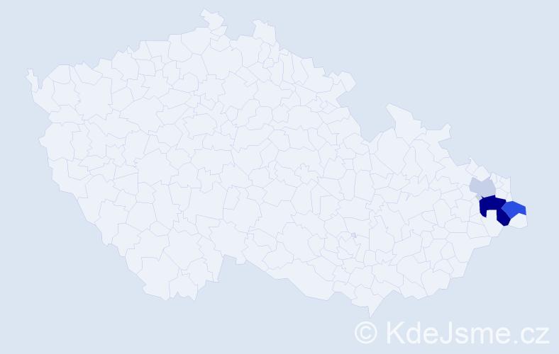 Příjmení: 'Fasugová', počet výskytů 8 v celé ČR