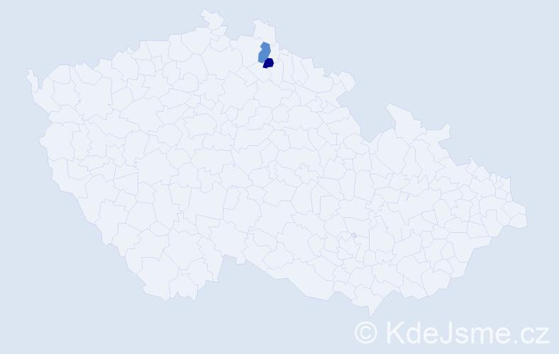 Příjmení: 'Lenemayerová', počet výskytů 3 v celé ČR