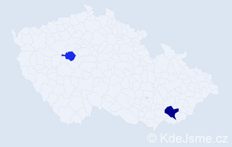 Příjmení: 'Grančai', počet výskytů 3 v celé ČR