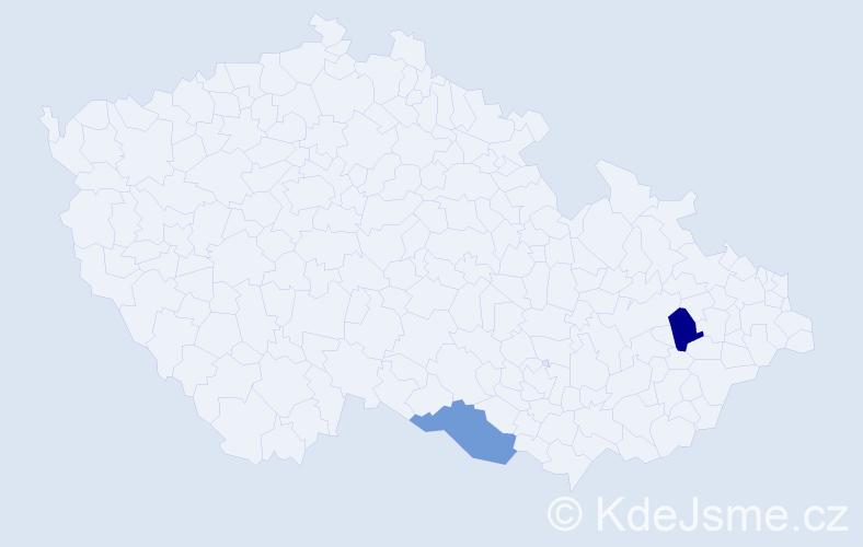 Příjmení: 'Ghorbankhani', počet výskytů 7 v celé ČR