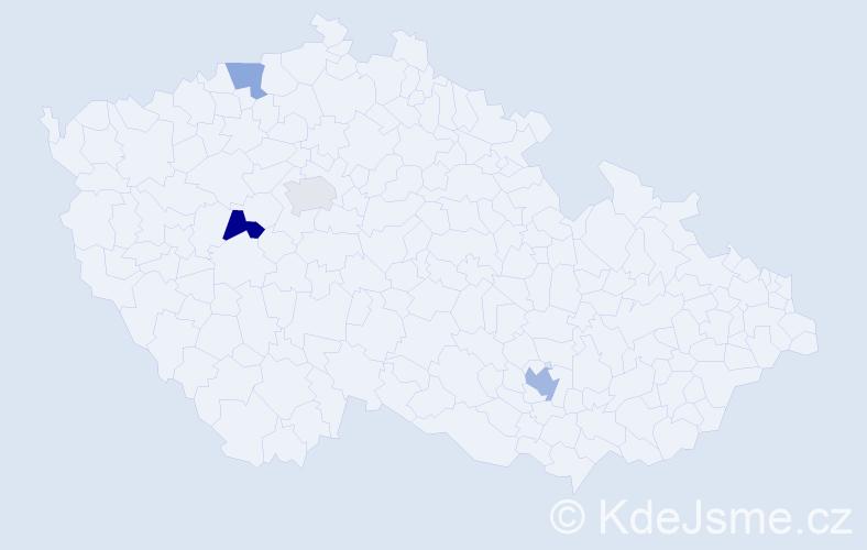 Příjmení: 'Dahan', počet výskytů 11 v celé ČR