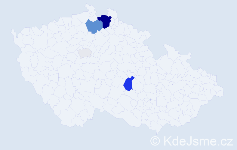 Příjmení: 'Daďourková', počet výskytů 12 v celé ČR
