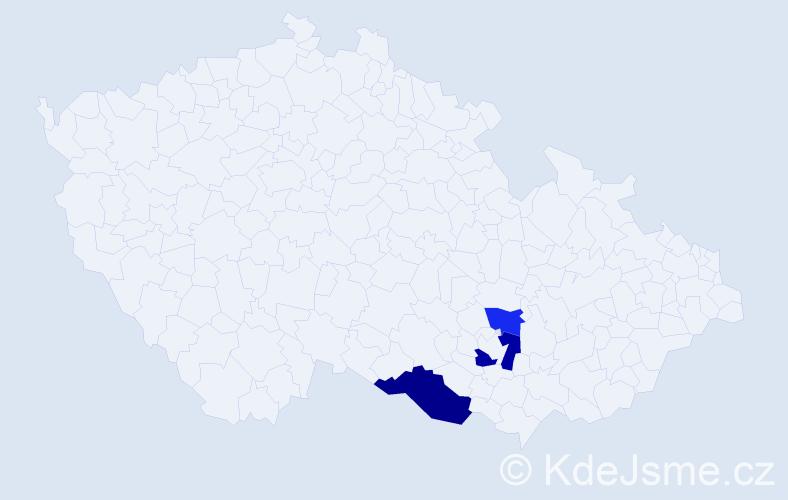 Příjmení: 'Holešanský', počet výskytů 9 v celé ČR