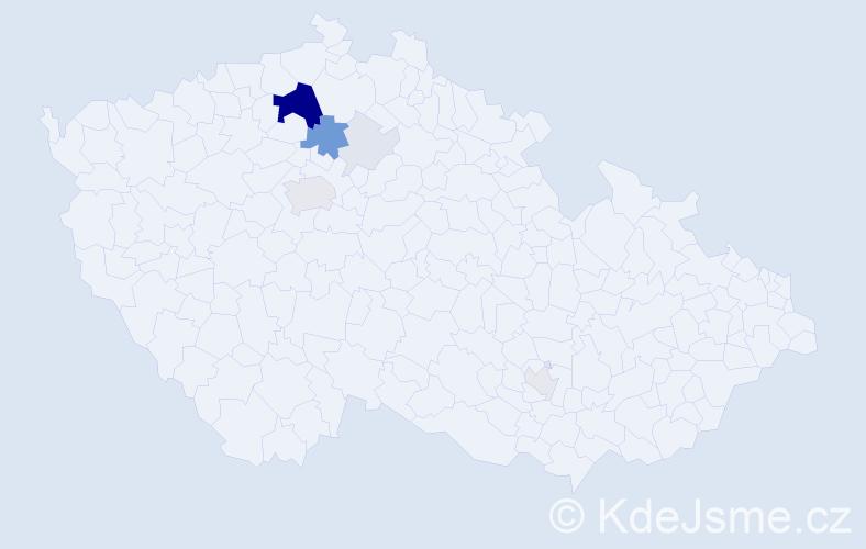 Příjmení: 'Krumbholcová', počet výskytů 34 v celé ČR