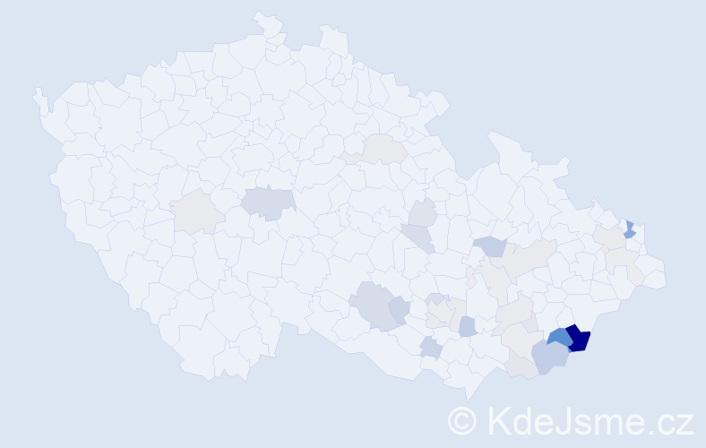 Příjmení: 'Gbelcová', počet výskytů 79 v celé ČR