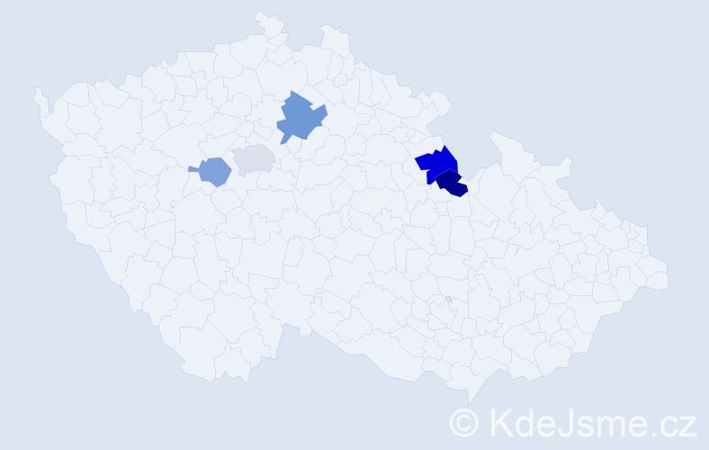Příjmení: 'Grasev', počet výskytů 9 v celé ČR