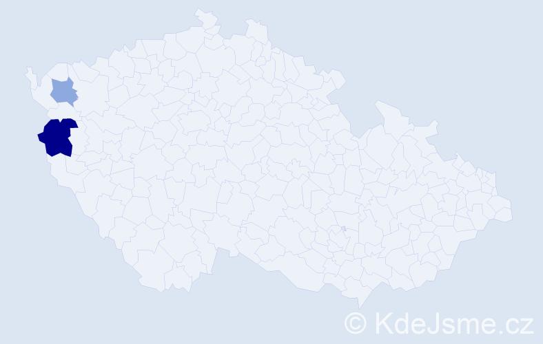 Příjmení: 'Comová', počet výskytů 7 v celé ČR