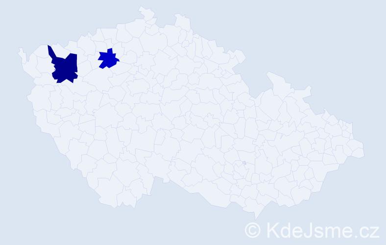 Příjmení: 'Junásová', počet výskytů 3 v celé ČR
