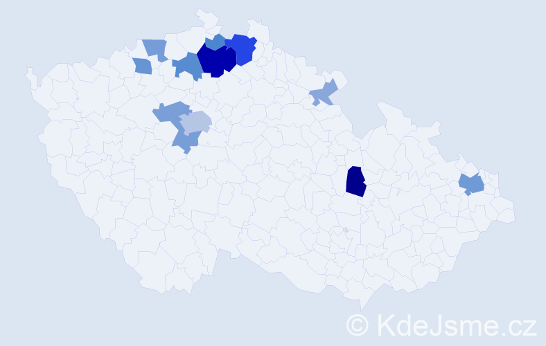 Příjmení: 'Endt', počet výskytů 35 v celé ČR