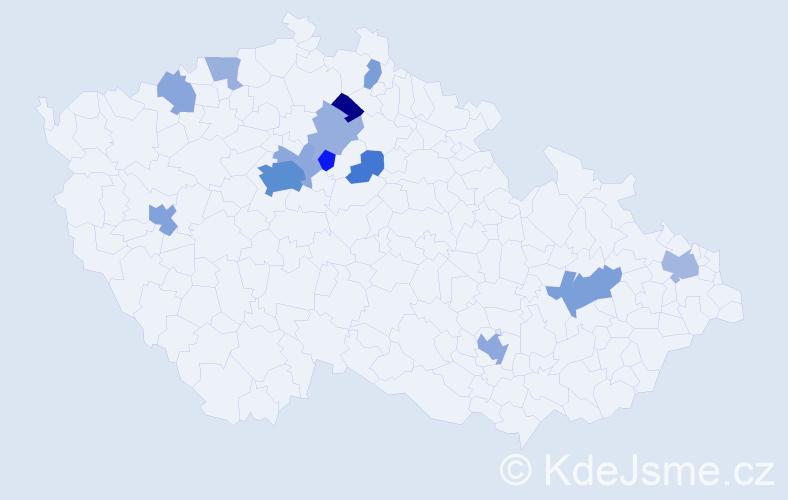 Příjmení: 'Ismail', počet výskytů 35 v celé ČR