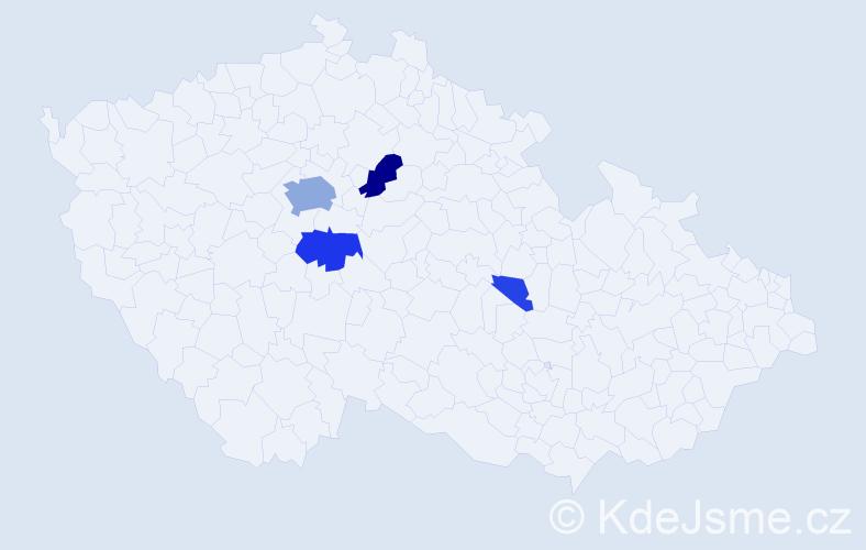 Příjmení: 'Feuerstein', počet výskytů 18 v celé ČR