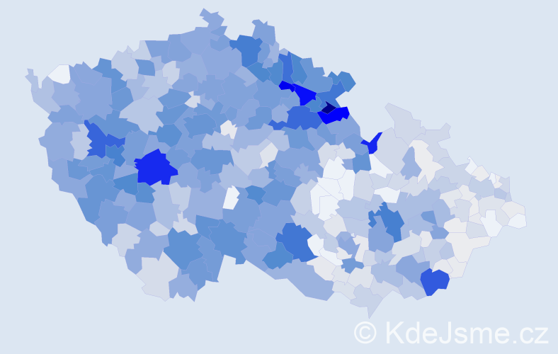 Příjmení: 'Ježková', počet výskytů 4514 v celé ČR