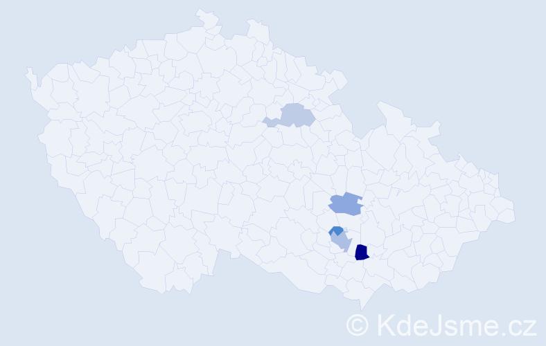 """Příjmení: '""""Ballon-Mierny""""', počet výskytů 8 v celé ČR"""