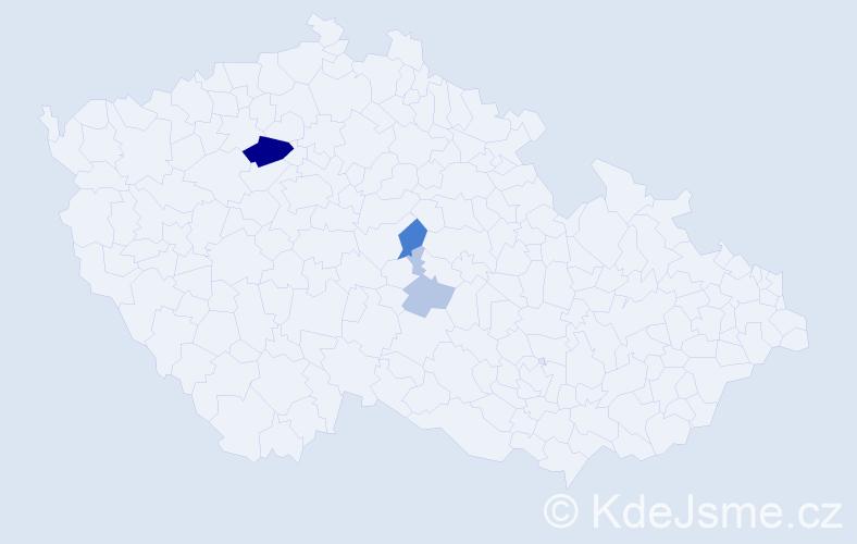 Příjmení: 'Čerman', počet výskytů 9 v celé ČR