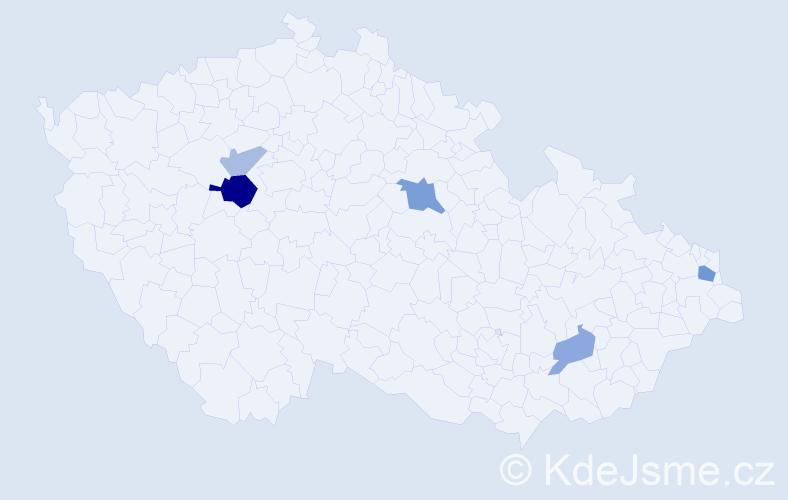 Příjmení: 'Babrňák', počet výskytů 10 v celé ČR