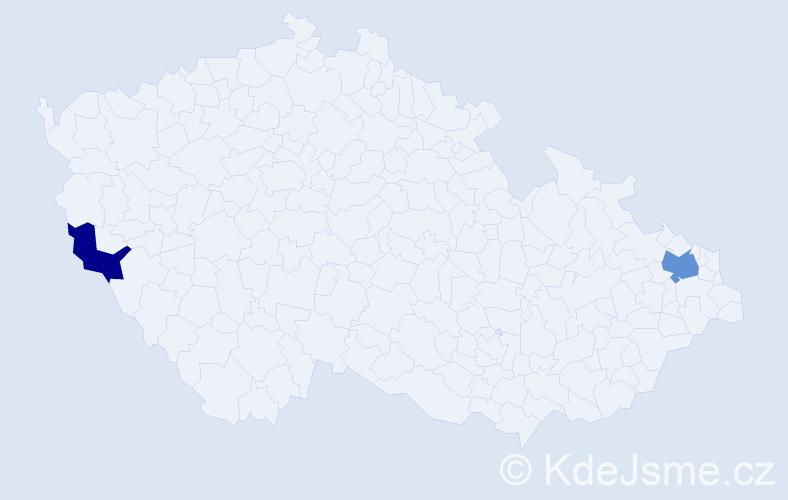 Příjmení: 'Ódorová', počet výskytů 3 v celé ČR