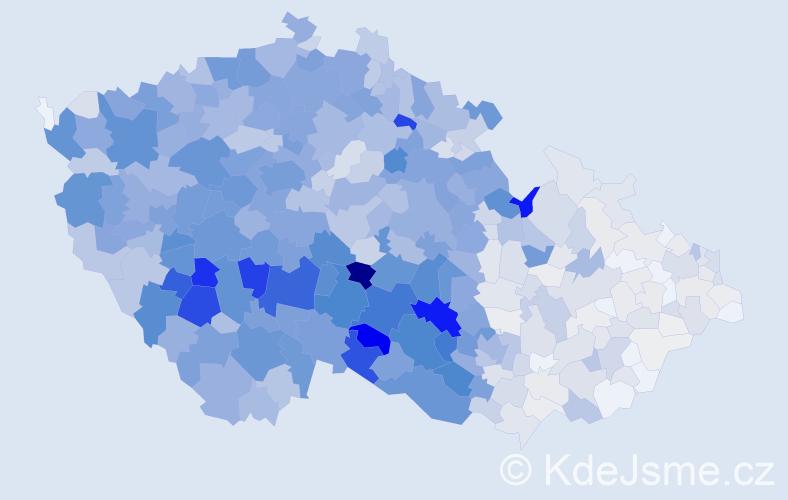 Příjmení: 'Krejčová', počet výskytů 5435 v celé ČR
