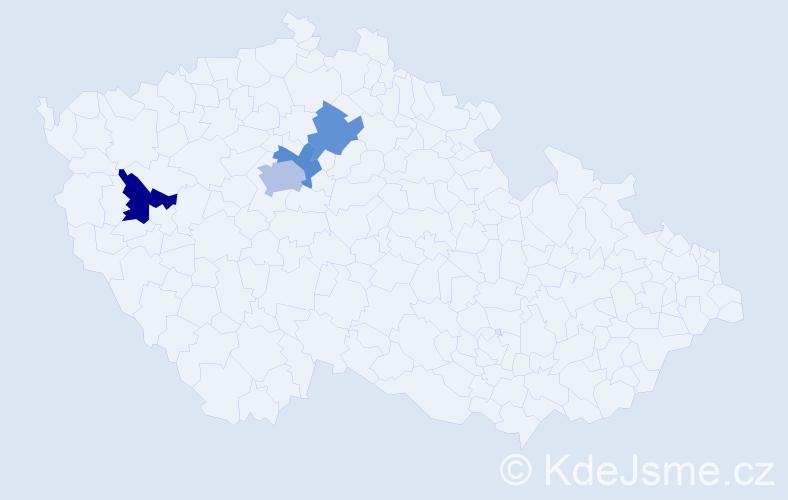 Příjmení: 'Kallup', počet výskytů 12 v celé ČR