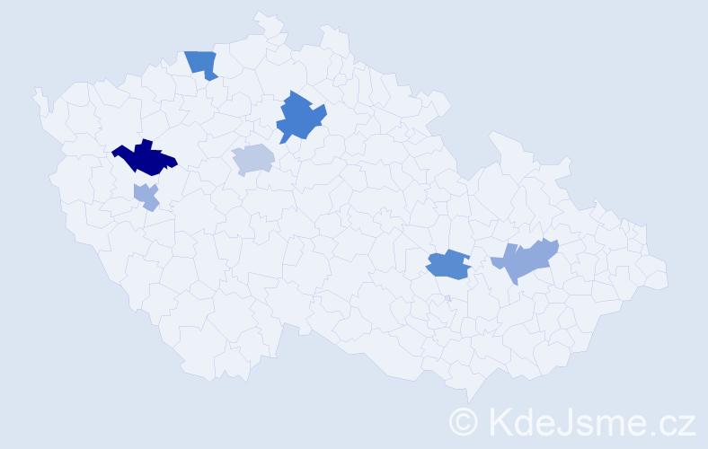 Příjmení: 'Leonhardt', počet výskytů 11 v celé ČR
