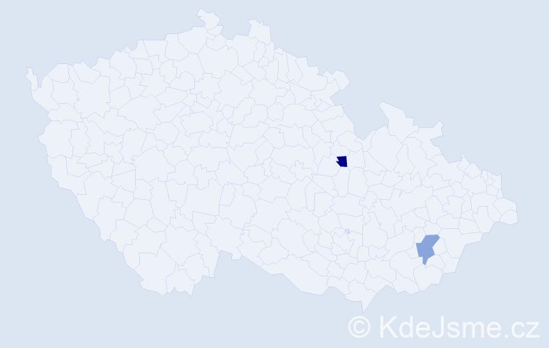 Příjmení: 'Ambrosini', počet výskytů 2 v celé ČR