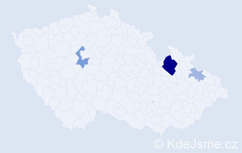 Příjmení: 'Hmelár', počet výskytů 8 v celé ČR