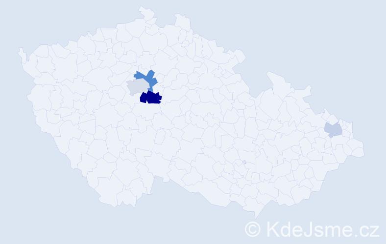 Příjmení: 'Coch', počet výskytů 8 v celé ČR