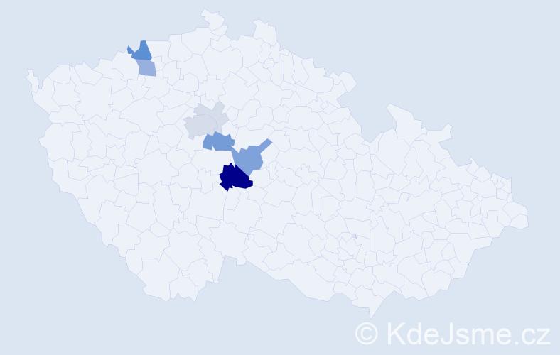 Příjmení: 'Drážek', počet výskytů 30 v celé ČR