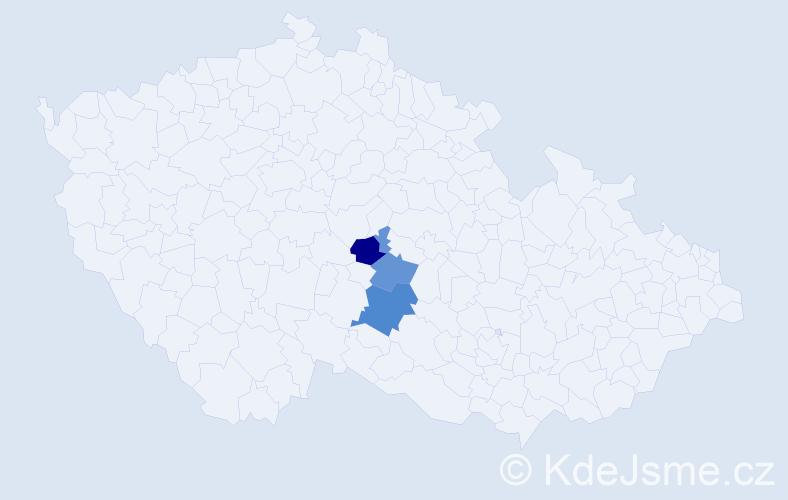 Příjmení: 'Léczová', počet výskytů 4 v celé ČR