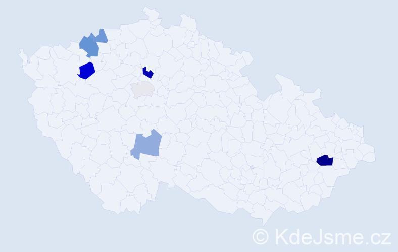 Příjmení: 'Baričiaková', počet výskytů 11 v celé ČR